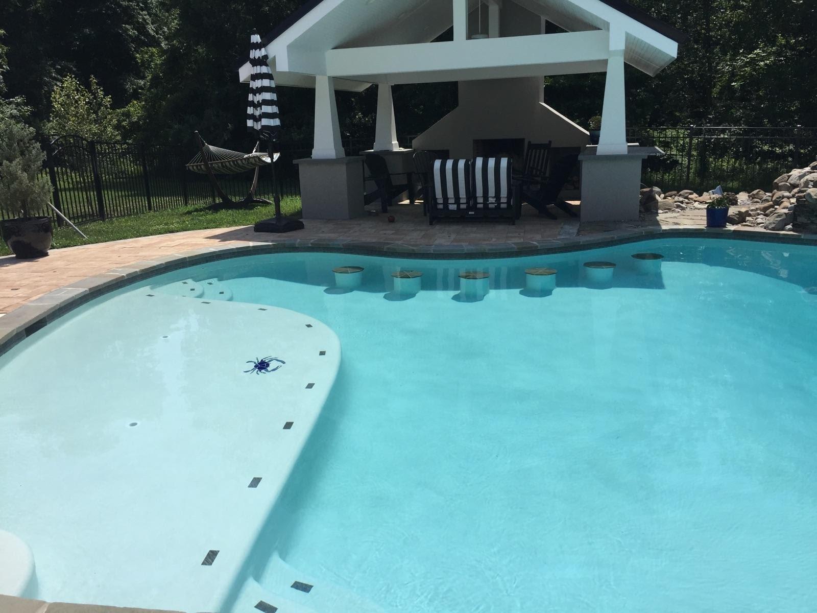 custom pool and swim up bar in easton maryland coastal pools. Black Bedroom Furniture Sets. Home Design Ideas